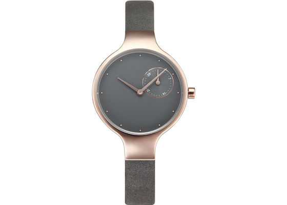 Elegant Diamond Face Watch , Diamond Quartz Ladies Watch Leather Band