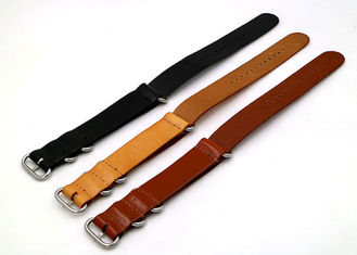 Professional Custom Mens Watches Leather Band , Sport Watch Bands Three Color