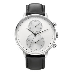 CD Grain Face Quartz Silver Stainless Steel Watch Sr626sw With Black Leather Strap