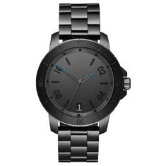 Luxury Minimalist Waterproof Watch , Black Mens Bracelet Watch Logo Customized
