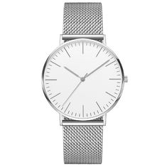 China 3 ATM Water Resistant Silver Stainless Steel Watch 316l 40mm Diameter Watch Case supplier