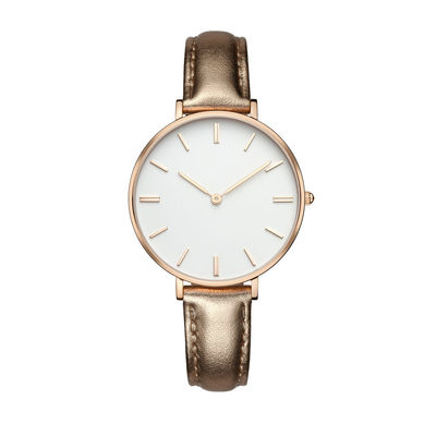 Stainless Steel Rose Gold Watches For Women 3atm Water Resistant