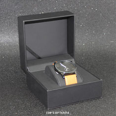 Black Classic Watch Storage Box , Personalized Watch Case CE SGS Listed