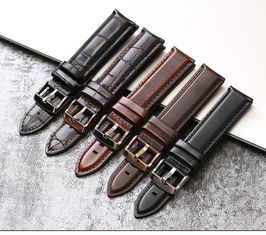 Adjustable Genuine Leather Watch Band Replacement Durable With 20mm Width