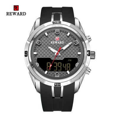 Chinese wholesale Led Display Sport Mens Stainless Steel Watches Alloy Case With Silicon Band