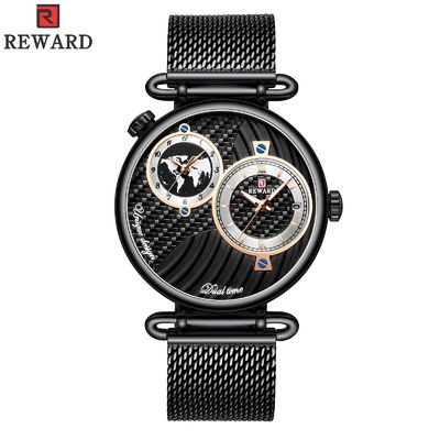 Chinese Two Movement Stainless Steel Caseback Watch , Mens Waterproof Watches Alloy Case