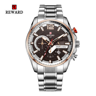 3 Amt Waterproof Mens Stainless Steel Watches Caseback Mineral Crystal Glass